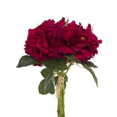 Artificial Rose Bouquets - Wild Rose Bouquet Dark Red (35cmH)