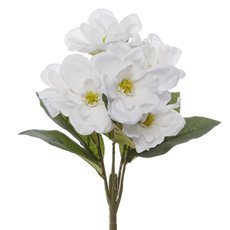 Other Artificial Bouquets - Magnolia Bunch 6 Heads White (35cmH)