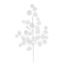 Artificial Leaves - Artificial Lunaria Spray White (67x18x5cm)