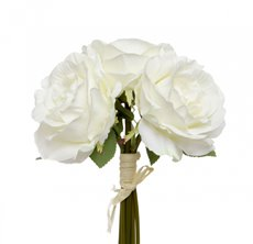 Artificial Rose Bouquets - Alice Rose Bouquet x3 Flowers Cream (28cmH)