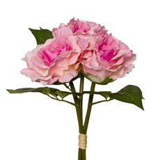 Artificial Rose Bouquets - Alice Rose Bouquet x3 Flowers Medium Pink (28cmH)