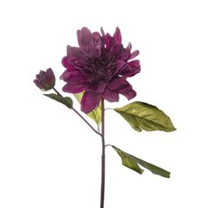 Other Flowers - Dahlia Stem Real Touch Fuchsia (53cmH)