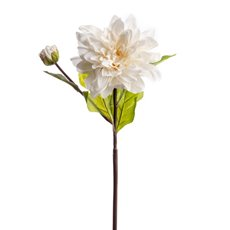 Other Artificial Flowers - Dahlia Stem White (53cmH)