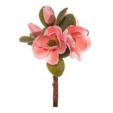 Magnolia Flower Bouquet with Buds Light Pink (53cmH)