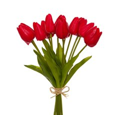 Tulip Mini Bouquet (12 Flowers 35cmST) Real Touch Red