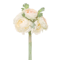 Artificial Peony Bouquets - Helen Peony Ranunculus Bouquet 6 Flowers Champagne (30cmH)