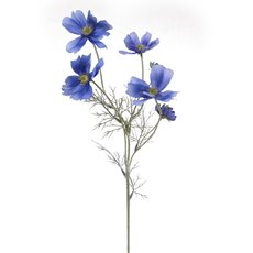 Other Artificial Flowers - Cosmos Spray Light Blue (62cmH)