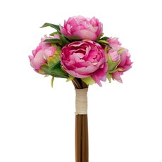Melony Peony Bouquet with 7 Flowers Hot Pink (31cmH)