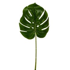 Artificial Leaves - Philo Split Leaf Pick Dark Green (55cmH)