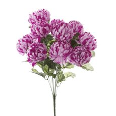 Other Artificial Bouquets - Chrysanthemum Value Bunch Hot Pink (51cmH)