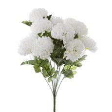 Other Artificial Bouquets - Chrysanthemum Value Bunch White (51cmH)