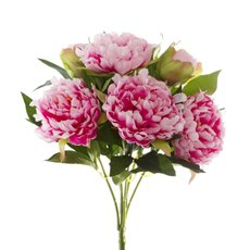 Artificial Peony Bouquets - Peony Value Bunch Pink (45cmH)