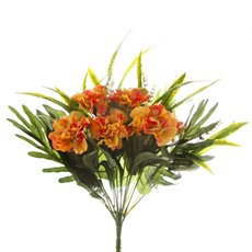 Other Artificial Bouquets - Carnation Value Bunch Orange (35cmH)