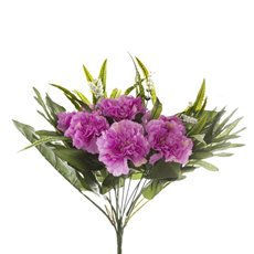 Other Artificial Bouquets - Carnation Value Bunch Pink (35cmH)