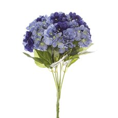 Artificial Hydrangea Bouquets - Hydrangea Value Bunch Dark Blue (45cmH)
