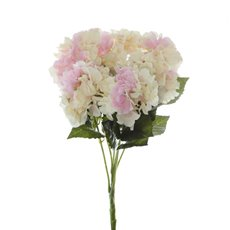 Artificial Hydrangea Bouquets - Hydrangea Value Bunch Cream Pink (45cmH)