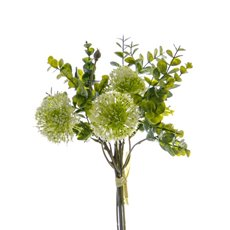 Artificial Leaves - Eucalyptus Onion Ball Bouquet Green (34cmH)