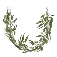 Artificial Leaves - Eucalyptus Willow Leaf Gumnut Garland Grey  (125cm)