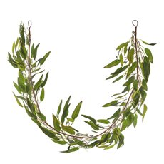 Artificial Leaves - Eucalyptus Willow Leaf Gumnut Garland Green Red  (125cm)