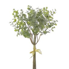 Artificial Leaves - Eucalyptus Mini Leaf Bouquet x6 Green Grey (35cmH)