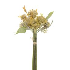 Other Artificial Bouquets - Artificial Onion Flower Bouquet Yellow (30cmH)