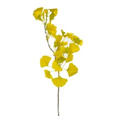 Artificial Leaves - Artificial Gingko Leaf Spray Yellow (94cmH)