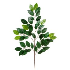 Artificial Leaves - Ficus Leaf Spray 49 Leaves Green (65cmH)