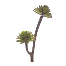 Artificial Succulents - Artificial Succulent Florette Green (27cmH)