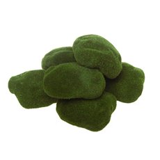 Artificial Moss - Artificial Moss Rocks Green (7cmx10cmH) Pack 6