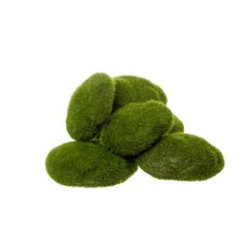 Artificial Moss and Fillers - Artificial Moss Rocks Green Assorted Sizes Pack 12