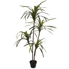 Yucca Real Touch x4 Heads Potted Plant Green (160cmH)