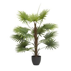 Artificial Trees - Artificial Fan Palm Potted Plant Real Touch (90cmH)