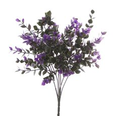 Artificial Leaves - Eucalyptus Bunch Purple (30cm)