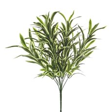 Artificial Leaves - Spider Plant Bush Green White (45cmH)