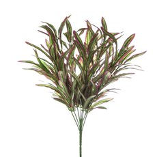 Artificial Leaves - Spider Plant Bush Green Red (45cmH)