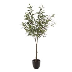 Artificial Trees - Artificial Olive Leaf Tree with Olives (125cm)