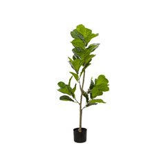 Artificial Trees - Artificial Fiddle Leaf Tree Potted Green (120cm)