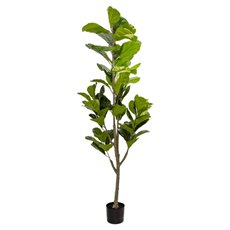 Artificial Trees - Artificial Fiddle Leaf Tree Potted Green (180cm)