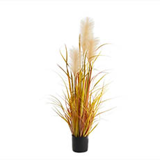 Artificial Plants - Artificial Pampas Grass Potted Champagne (90cm)
