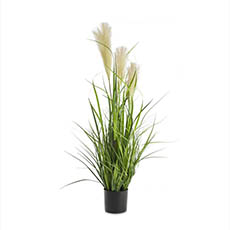 Artificial Plants - Artificial Pampas Grass Potted Yellow Green (90cm)