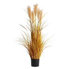 Artificial Plants - Artificial Pampas Grass Potted Champagne (120cm)