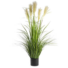 Artificial Plants - Artificial Pampas Grass Potted Yellow Green (120cm)