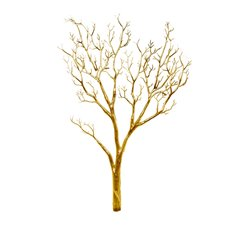 Coral Tree Twisted Branch Gold (96cmH)