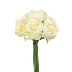 Artificial Peony Bouquets - Peony Bouquet Emily x8 Flowers Cream (34cmH)