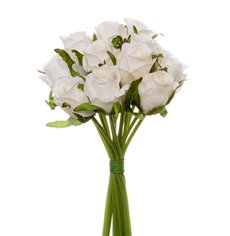 Artificial Rose Bouquets - Katie Rose Bouquet with 16 Flowers Cream (25cmH)
