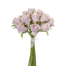 Artificial Rose Bouquets - Katie Rose Bouquet with 16 Flowers Light Pink (25cmH)