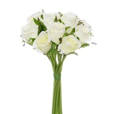 Buy artificial flowers online at wholesale prices koch artificial rose bouquets katie rose bouquet with 16 flowers new cream 25cmh mightylinksfo