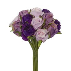 Katie Rose Bouquet with 16 Flowers Purple Combo (25cmH)