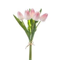 Other Artificial Bouquets - Rochelle Tulip Bouquet x 5 Flowers Light Pink (35cmH)