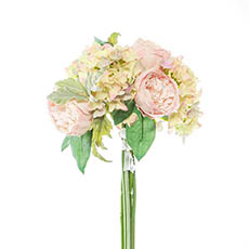 Other Artificial Bouquets - Penny Peony Hydrangea Bouquet Light Pink (33cmH)